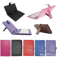 Wholesale 10PCS DHL colours USB Keyboard Leather Case For inch Android Tablet pc Folding Leather Protective Case