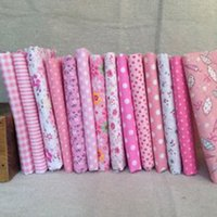 Wholesale pink Cotton Fabric No Repeat Design Flower Seriers Patchwork Fabric Fat Quarters Bundle Sewing For Fabric cm cm