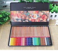 Wholesale pencils professional solventborne colored pencil tin color set lapis de cor color pencil colored pencils