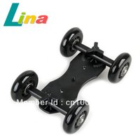 Wholesale TableTop Compact Dolly Kit Skater Slider wheel Camera Car Truck Stabilizer For DSLR Camera Camcorder