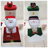 radiators - EMS Santa Claus snowmen a gentleman the toilet lid floor mats radiator cap tissue boxes Set Christmas home hotel decoration