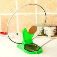 Wholesale Useful Spoon Pot Lid Shelf Cooking Storage Kitchen Decor Tool Stand Holder ZH455