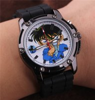 best conan - Relojes Mujer Detective Conan Stainless Quartz Rubber Wrist Band watches relogio masculino for best friends