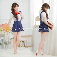 best school uniforms - School uniform set sailor suit fashion preppystyle uniforms girls class service school wear European campus popular best selling