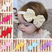 Wholesale 2pcs Fashion Kids Girl Baby Toddler Infant Bow knot Headband Hair Bow Band Headwear