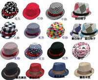 accept checks - Cool Cow Boy Kids fedoras Caps Solids Check Skull Patterns Party caccessories hat Studens Boys fedora hat accept color choose freely