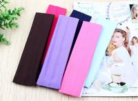 Wholesale 500pcs Colors Stretch Headband Sports Yoga hair band Sweat Head Wrap Unisex good Stretch Bandanas cm By DHL