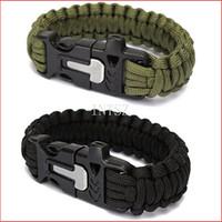 Wholesale New Survival Gear Kit Magnesium Flint Fire Starter Striker In Kit Survival Bracelets Paracord Fire Starter Camping Equipment