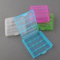 Wholesale New Hard Plastic Case Holder Storage Box for rechargeable AAA Battery Hot Drop Shipping Accessories