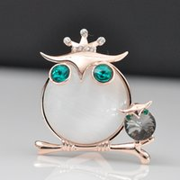 big green parrot - Wedding Invitation Brooch Parrot Shape Scarf Buckle With Big White Opal And Double Green Zircon