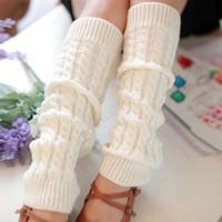 Wholesale Winter Leg Warmers For Women Fashion Gaiters Boot Cuffs Socks Women Legging Accessories Leg Warmer Warm Black White SV10