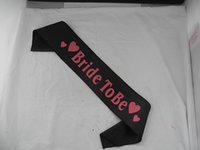 Wholesale fashion sash bride to be with heart for party supplies