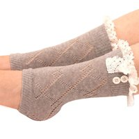 amazing winter boots - Amazing Women s Winter Warm Lace Soft Crochet Knitted Leg Warmers Boot Socks Cuffs Liner New Arrival