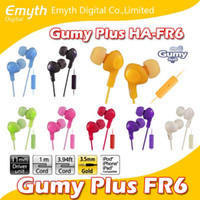Wholesale Gumy Headphones Earphones HA FR6 earphone Gumy Plus inner ear headphones with comfortable fit sound isolation with mic nano colors
