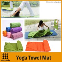 Wholesale 2015 Hot Health Care Skidless Yoga Towel Yoga Mat Non slip Yoga Mats for Fitness Yoga Blanket Colors