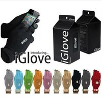 Wholesale top quality colors retail bag Multi purpose Unisex iGlove Capacitive Screen Gloves For iPhone S iphone HTC ipad iGloves Gloves D540
