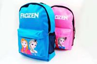 Wholesale Anna Elsa Princess Frozen Kids Children School Shoulder Book Bag Backpack Free EMS