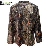 Wholesale Camouflage Men s Long Sleeve T Shirt Summer Polyester Men Camo T Shirt