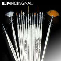 Wholesale 15Pcs Design Painting Pen Professinal Nail Art Brush Set for Natural False D Tips Tool Beauty Brand New