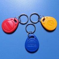 Wholesale 100pcs waterproof RFID Proximity Rfid Tag Key Rings Khz Smart Card Rfid Id Card Blue Yellow Red