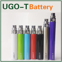 Wholesale Micro USB Passthrough UGO T Battery Thread E Cigarettes Charge Android Cable Ego T Batteries mAh mAh mAh Fit CE4 Atomizer