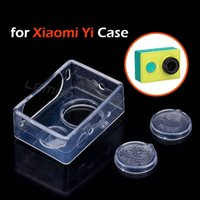 Wholesale Soft TPU Transparent Case Lens Cap For Xiaomi Yi Action Camera Protective Cover Xiaoyi Camera Accessories
