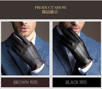 leather gloves - Cool Men Winter Gloves with Fashion Style and Warm keeping Gloves Real Leather Gloves for Choosen