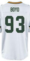 Wholesale Green Bay Josh Boyd Elite Green White American Football Jerseys New Brand Embroidery logos Mix order