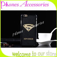 étuis iphoe achat en gros de-IPhoe 6 Plus Cas 3D Superman Batman Cartoon Glitter Plastique Back Covers pour iPhone 6 4.7inch 6 Plus 5.5inch