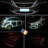 Whole Body car decoration - 1set cm m Hottest M Reflective Tape Car Sticker Night Vision Car Modify Decals Decoration Safety Reflective Red Blue Yellow White