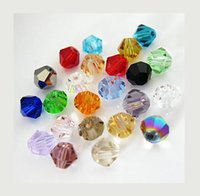 Wholesale 3MM DIY Crystal Crystal beads two sharp diamond tip beads Colors You Choose Best Gift