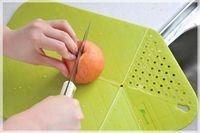 plastic board cutting board - Multifunctional foldable drain and plastic cutting board cutting chopping board kitchen supplies