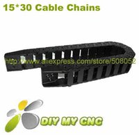 Wholesale for X30 Cable drag chain wire carrier mm R28 mm quot plastic cable chain with End Connectors