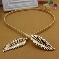 extra fee chain metal dress - Charming Gold Sliver Belt for Zuhai Murad Dresses Sash Leaves Clasp Metal Waist Chain Decoration Elastic Spring Loaded Golden Dress