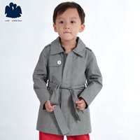 Wholesale New Fashion Boys Long Sleeves Trench Good Quality winter Coat Turn down Collar Outerwear Children Clothing C0550