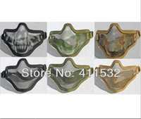 Wholesale paintball mask Half Face Metal Mesh Protective Mask Airsoft Paintball Resistant