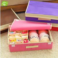 bin bag - Fashion Colors Storage Boxes Bins Non woven Fabric Underwear Storage Box Portable Clothes Organizer Box Holder Bag dandys