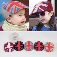 baby hats uk - Baby Kid Girls Boy Hat UK Flag Print Flat Visor Casquette Beret Cap