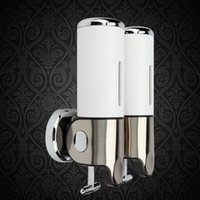 Wholesale And Retail Promotion Luxury White Color Stainless Steel Bathroom Soap Dispenser Shampoo Holder ml