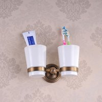antique furniture finishes - Hot Antique finish double cup holder rack toothbrush holder bathroom accessories sanitary ware bathroom furniture HJ F