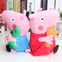 brand toys - EMS Cute Brand New Hard Wash Pink Pig brother Pig Toys styles quot cute kids toddler toys