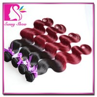 discount items - New item Discount A malaysian ombre hair b burgundy human hair body wave weave cheap j ombre hair extensions mixed