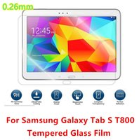 Wholesale For Samsung Galaxy Tab S T800 Explosion Proof H mm Real Tempered Glass Screen Protector Film for samsung galaxy tabs t800