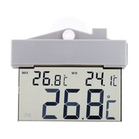 Wholesale LCD Display Digital Digital Thermometer Clock Mini Temperature Measurement Meter Calendar Weather Station Tester with Sucker