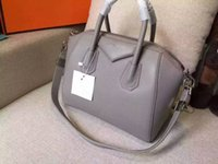 Wholesale grauned leather antigona casual tote with silver hardware cm medium size