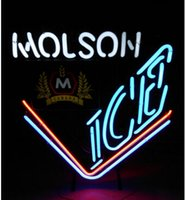 beer signs canada - VINTAGE MOLSON ICE CANADA BEER NEON SIGN REAL GALSS TUBE BAR DISCO KTV CLUB MOTEL STORE DISPLAY SIGN DRINK ADVERTISEMENT SIGN quot X21 quot