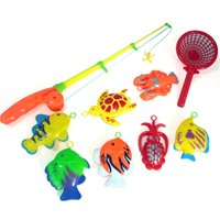 Wholesale Learning amp education magnetic fishing toy comes with fish and a fishing rods outdoor fun amp sports fish toy gift for