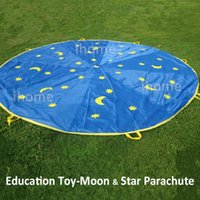 Wholesale 3M M Moon Star Parachute for Children Teamwork Games Educational toys for Preschool Nursery or Early childhood institutions