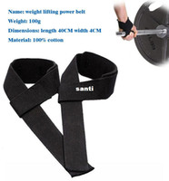 Wholesale 2PCS Pair Weight Lifting Hand Wrist Bar Support Strap Brace Support Gym Straps Weight Lifting wrap Body Building Grip Glove