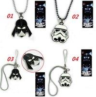 american slide phones - 2016 New Star Wars Stormtrooper Pendant Necklace Phone Strap Metal Cosplay Necklace